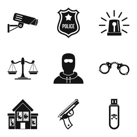 Safeguarding icons set