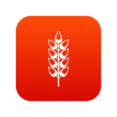 Long spica icon digital red