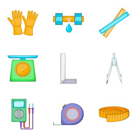 Cultivation icons set, cartoon style isolated on white background.