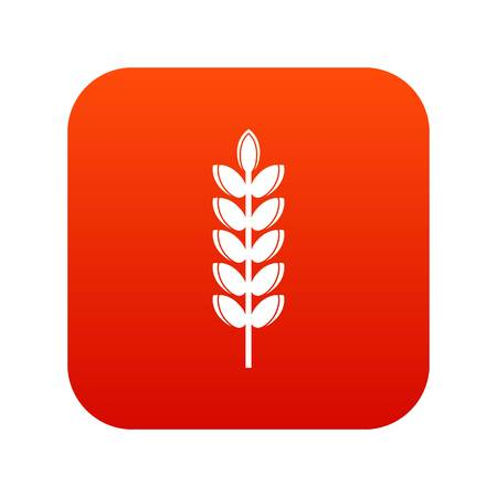 Big grain spike icon digital red for any design isolated on white vector illustration