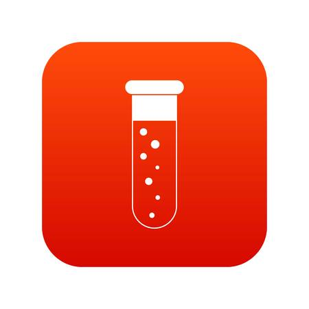 Blood test icon digital red for any design isolated on white vector illustration