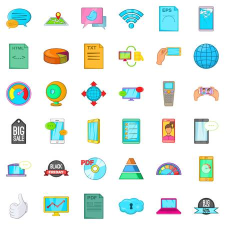 Speaker icons set. Cartoon set of 36 speaker vector icons for web isolated on white background