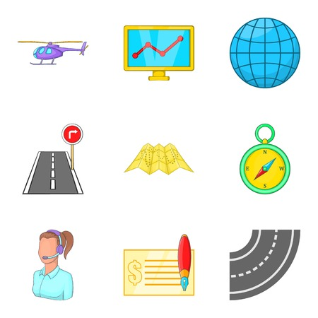 Shipment icons set. Cartoon set of 9 shipment vector icons for web isolated on white background