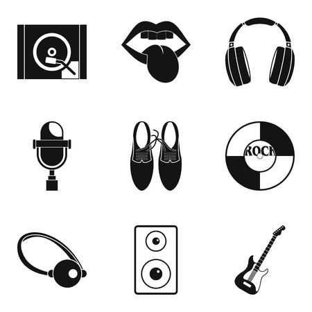 Sight icons set, simple style