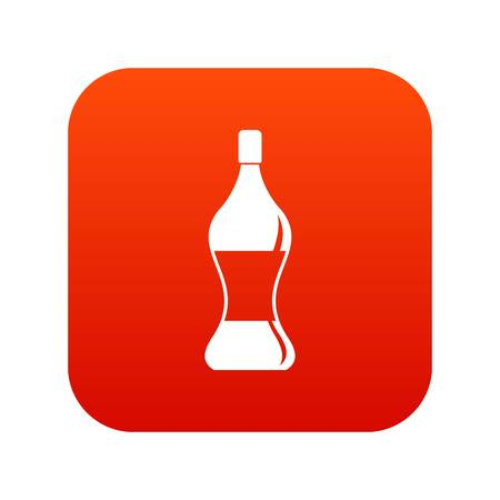Soda water icon digital red
