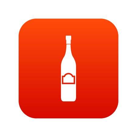 One bottle icon digital red Иллюстрация