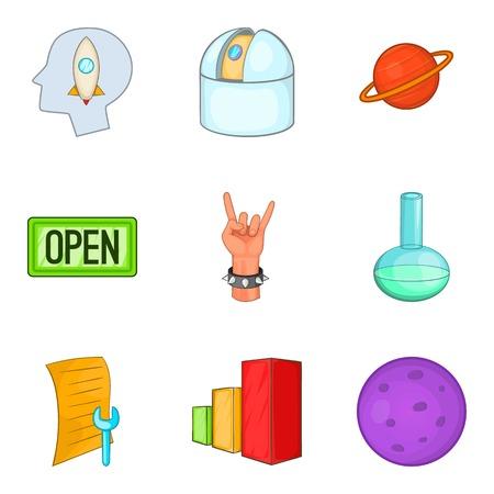Resolve the problem icons set. Cartoon set of 9 resolve the problem vector icons for web isolated on white background