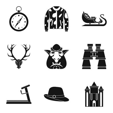Horseman icons set. Simple set of 9 horseman vector icons for web isolated on white background