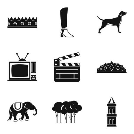 Ostler icons set. Simple set of 9 ostler vector icons for web isolated on white background