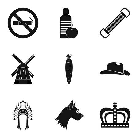 Hostler icons set. Simple set of 9 hostler vector icons for web isolated on white background