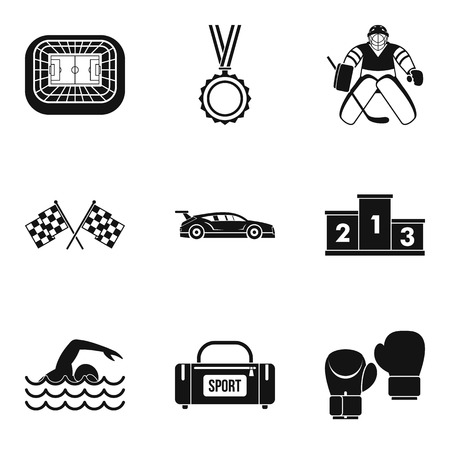 Sportsmanlike icons set. Simple set of 9 sportsmanlike vector icons for web isolated on white background