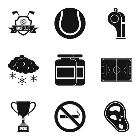 Sport clubhouse icons set. Simple set of 9 sport clubhouse vector icons for web isolated on white background