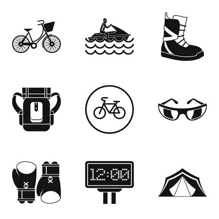 Sport weekend icons set. Simple set of 9 sport weekend vector icons for web isolated on white background