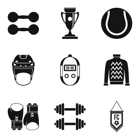 Sport industry icons set. Simple set of 9 sport industry vector icons for web isolated on white background