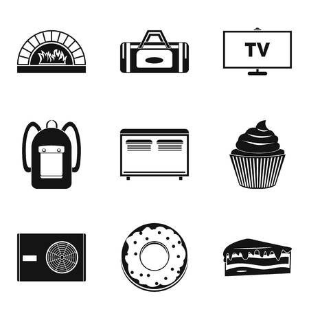 Saloon icons set. Simple set of 9 saloon vector icons for web isolated on white background  イラスト・ベクター素材