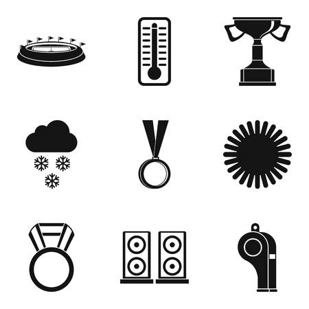 Sport stadium icons set. Simple set of 9 sport stadium vector icons for web isolated on white background Illusztráció