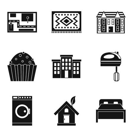 Area icons set. Simple set of 9 area vector icons for web isolated on white background.