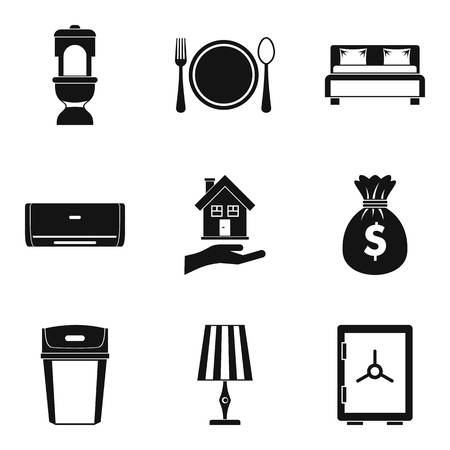 Tavern icons set. Simple set of 9 tavern vector icons for web isolated on white background  イラスト・ベクター素材