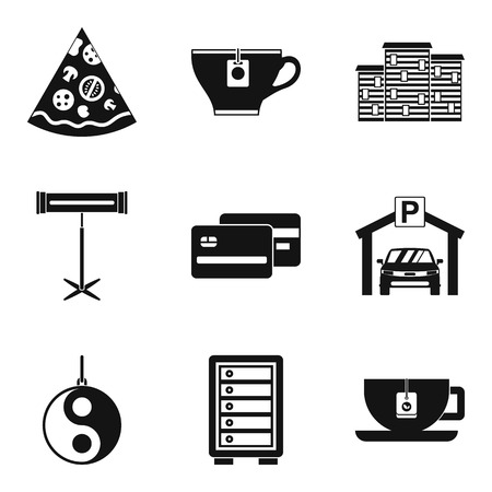 Pub icons set. Simple set of 9 pub vector icons for web isolated on white background  イラスト・ベクター素材