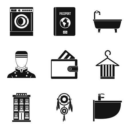 Drinking establishment icons set. Simple set of 9 drinking establishment vector icons for web isolated on white background