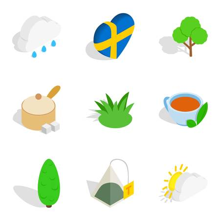 Stockholm icons set, isometric style