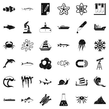Source icons set, simple style Archivio Fotografico - 96210496
