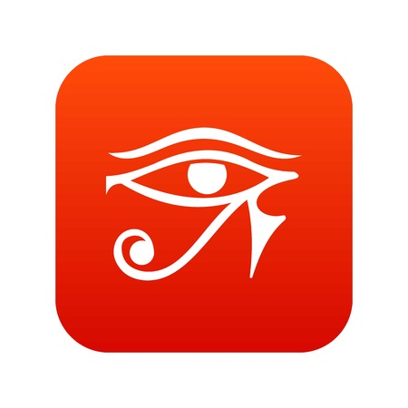 Eye of Horus Egypt Deity icon digital red