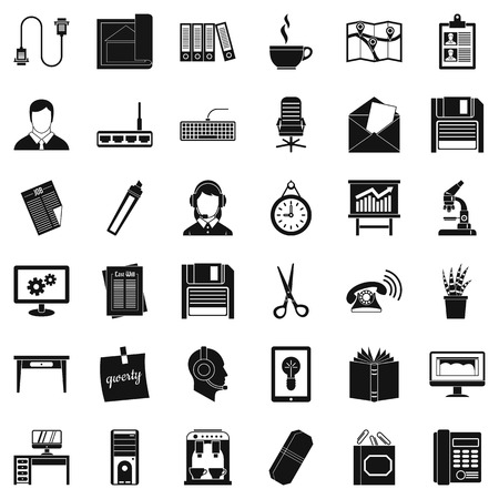 Chancellery icons set. Simple set of 36 chancellery vector icons for web isolated on white background