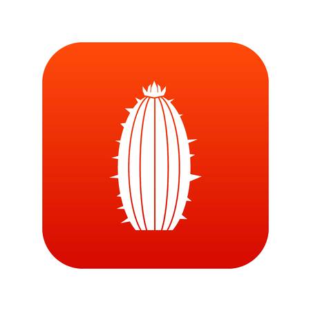 Mammillaria bocasana icon digital red for any design isolated on white vector illustration
