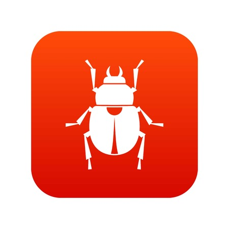 Scarab icon digital red for any design isolated on white vector illustration