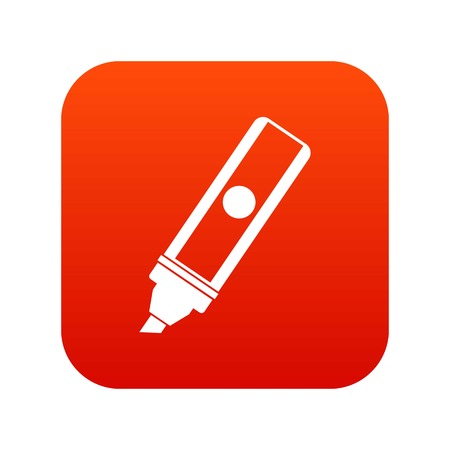 Permanent marker icon digital red for any design isolated on white vector illustration Illustration