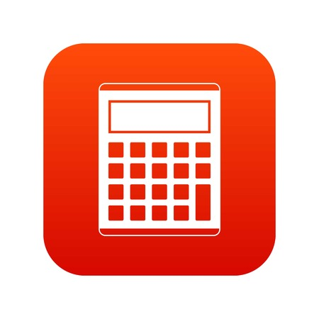 Office, school electronic calculator icon