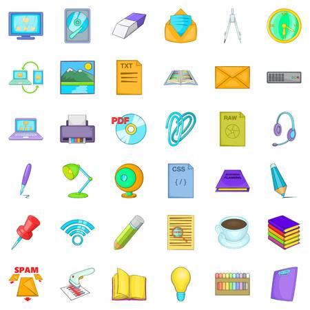 Organizational management icons set