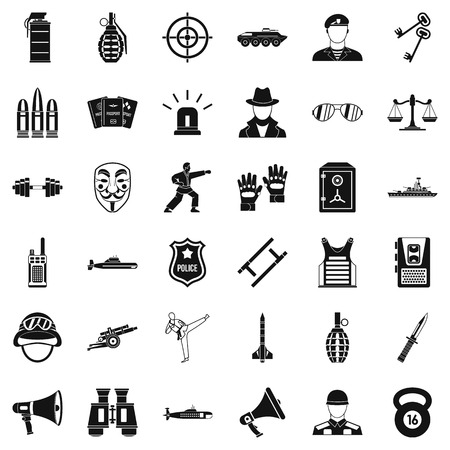 Officer icons set