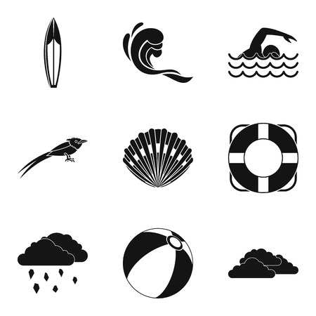 Water element icons set