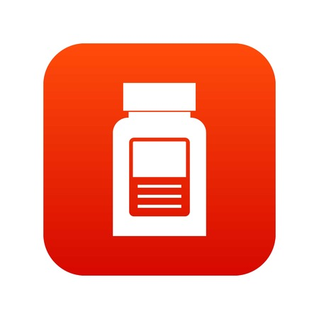 Medicine bottle icon digital red for any design isolated on white vector illustration