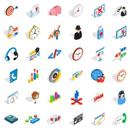 Worksite icons set Illustration