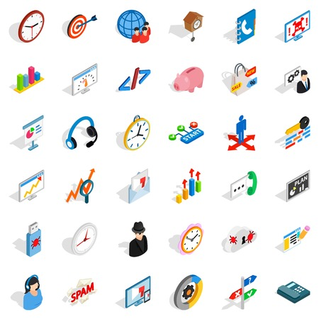 Bookkeeping service icons set