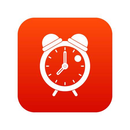 Alarm clock retro classic design icon digital red Vector illustration.