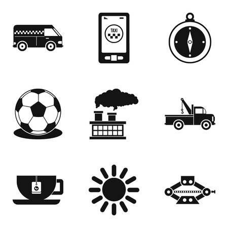 Shipping people icons set Illustration