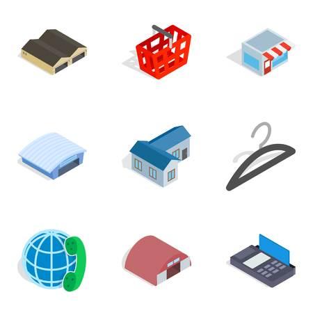 Homeowner icons set, isometric style Stock Photo