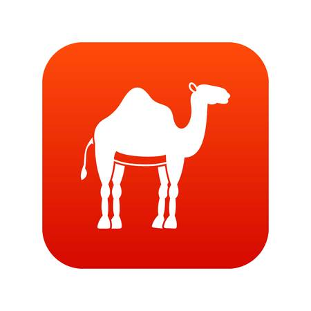 Camel icon digital red 向量圖像