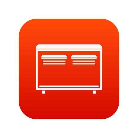 Home equipment for heating icon digital red for any design isolated on white vector illustration Illustration