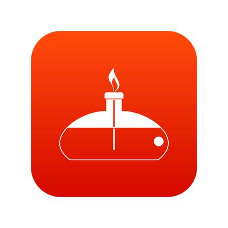 Spiritlamp icon digital red for any design isolated on white vector illustration