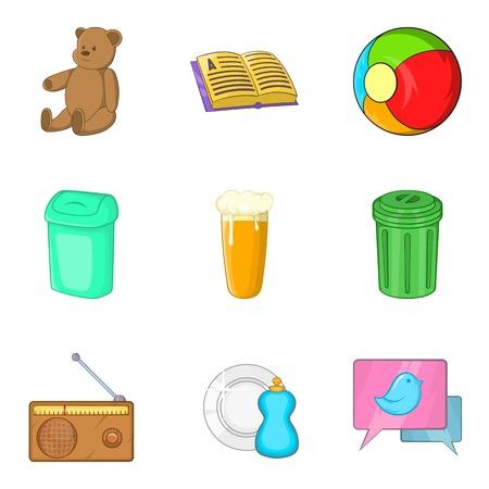 Orphan asylum icons set. Cartoon set of 9 orphan asylum vector icons for web isolated on white background
