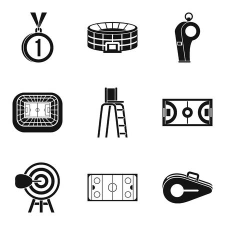 Sport playground icons set. Simple set of 9 sport playground vector icons for web isolated on white background
