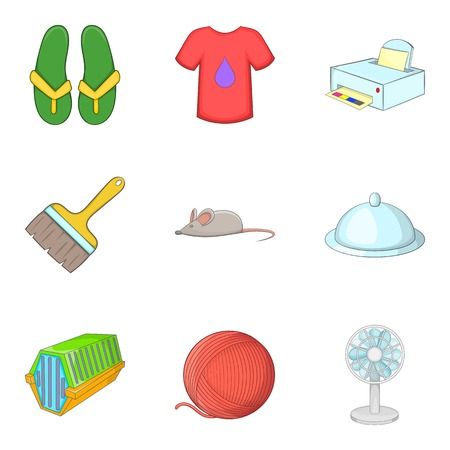 Brilliant cleaning icons set, cartoon style 写真素材 - 96400377