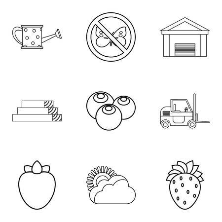 Motherland icons set, outline style