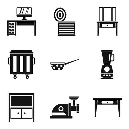 Sleeping house icons set. Simple set of 9 sleeping house vector icons for web isolated on white background