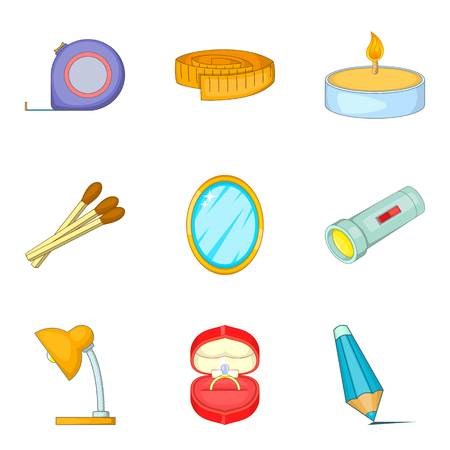 Multiroom icons set, cartoon style 写真素材 - 96401208